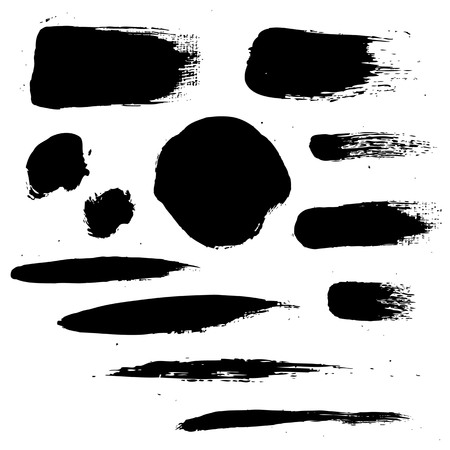splatter paint: Black Blots Illustration