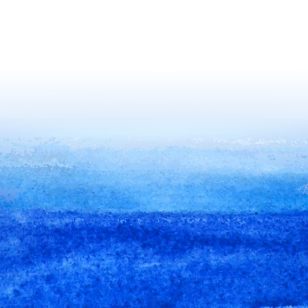Aquarelle bleue, illustration vectorielle