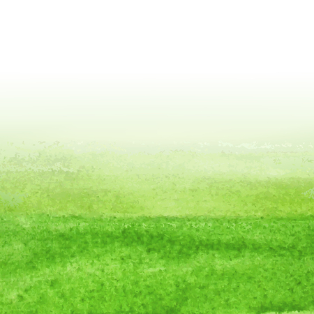 Green Watercolor Background, With Gradient Mesh, Vector Illustration Illustration