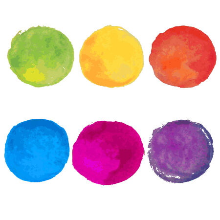 Watercolor Blots Illustration Vector