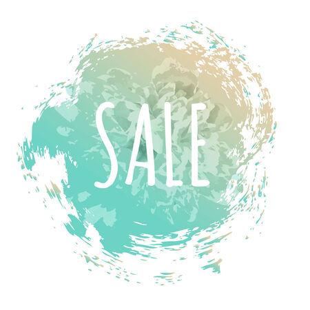 Blue Sale Poster, Vector Illustration Illustration