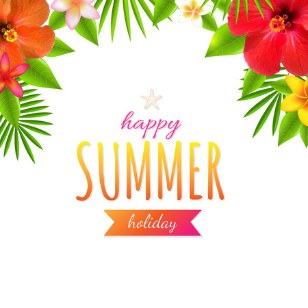 Happy Holiday, With Gradient Mesh, Vector Illustration Vector