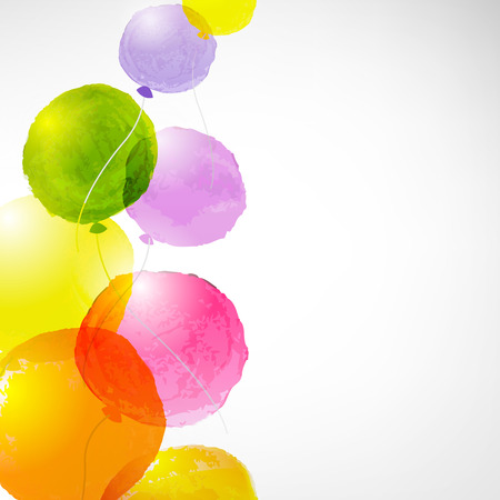Aquarel Ballonnen, Met Gradient Mesh, Vector Illustratie Stock Illustratie