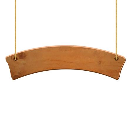 Wooden Sign, Vector Illustration