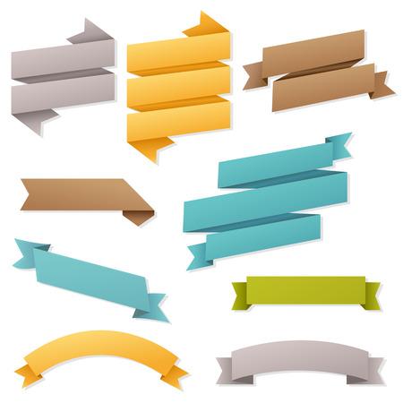Web Ribbons Set, Vector Illustration Vector
