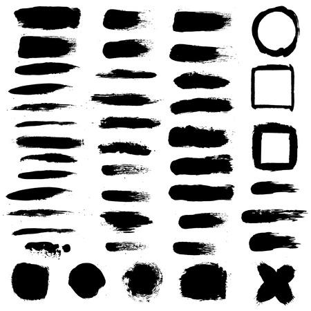 splurge: Black Blobs Set, Vector Illustration Illustration
