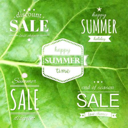 Summer Labels Set, Vector Illustration Vector