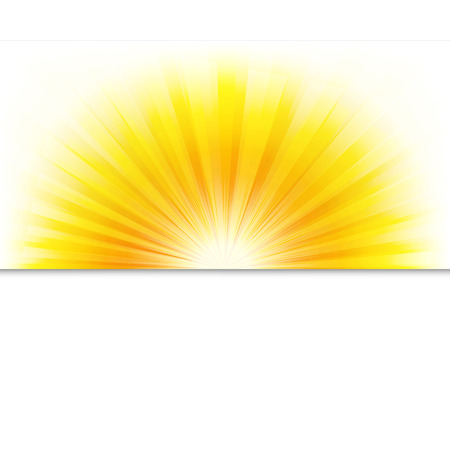 Sunburst Poster With Beams, With Gradient Mesh, Illustration Illustration