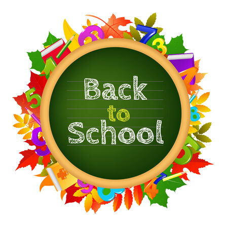 Back To School, With Gradient Mesh, Illustration Vector