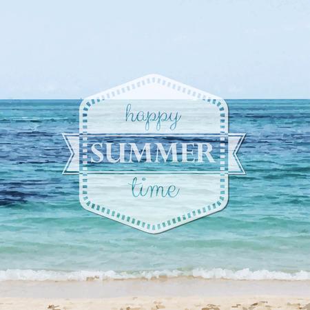 happy summer: Happy Summer Time Poster, Illustration