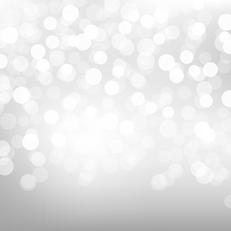 Silver Bokeh Poster With Gradient Mesh, Vector Illustration