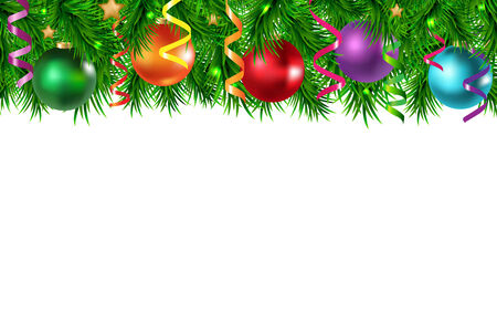 Xmas Border With Golden Stars With Gradient Mesh, Vector Illustration