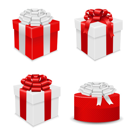 Gift Boxes Set, Vector Illustration Vector