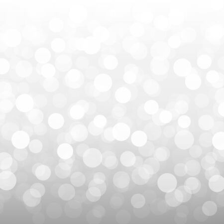Silver Bokeh Wallpaper With Gradient Mesh, Vector Illustration