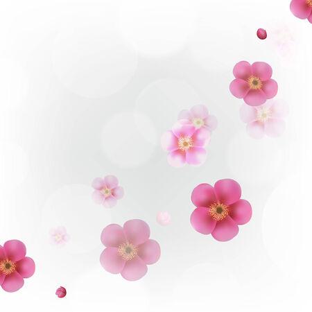 flores color pastel: Pastel Flores Wallpaper con malla de degradado, ilustraci�n vectorial