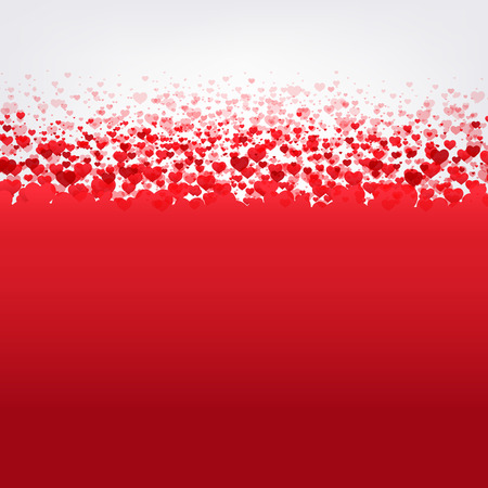 14 february: Happy Valentines Day Card With Gradient Mesh, Vector Illustration