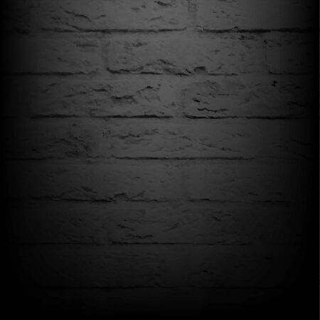 brick background: Black Brick Wall With Gradient Mesh, Vector Illustration