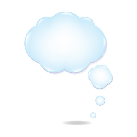 differential focus: Cloud Speech Bubble With Gradient Mesh, Vector Illustration