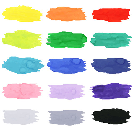 blots: Watercolor Blots, Vector Illustration