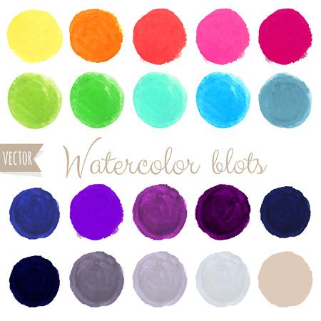 blots: Watercolor Blots Set, Vector Illustration Illustration