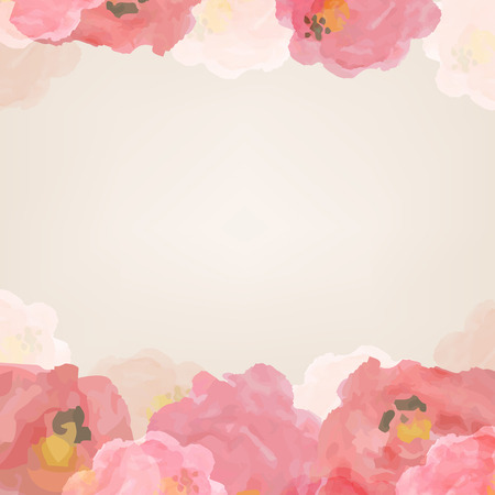 Watercolor Roses With Gradient Mesh, Vector Illustration