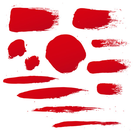 blots: Red Blots Set, Vector Illustration Illustration