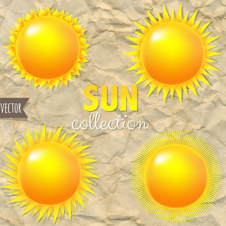 burning paper: Bright Sun Set With Gradient Mesh, Vector Illustration