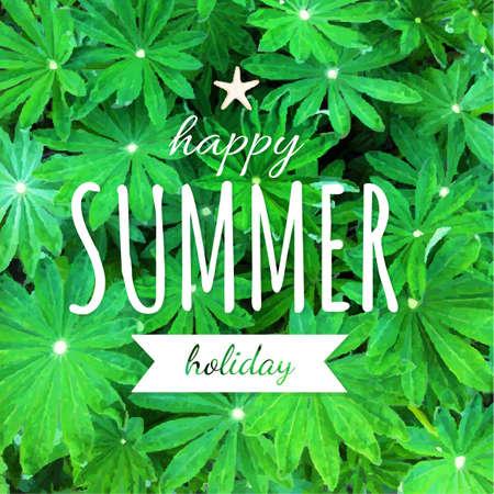 gradient mesh: Summer Poster With Gradient Mesh, Vector Illustration