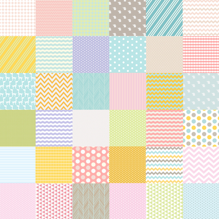 polka dot fabric: Baby Shower Poster, Vector Illustration