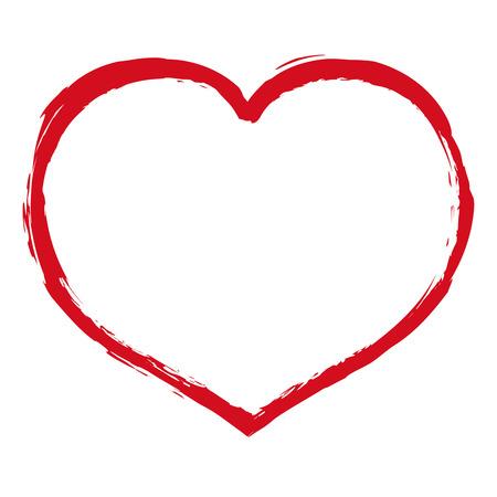 blot: Heart Blot, Vector Illustration Illustration