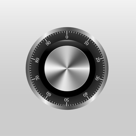 turn dial: Safe Lock With Gradient Mesh, Vector Illustration