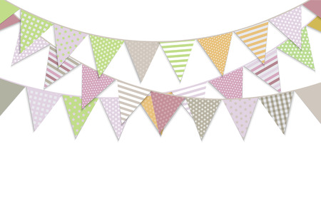 bunting flag: Bunting Flags, Vector Illustration