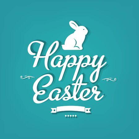 fondo elegante: Postal feliz de Pascua con malla de degradado, ilustraci�n vectorial