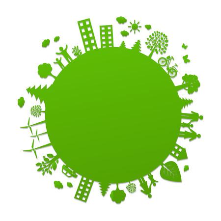 economy: Eco Planet With Gradient Mesh