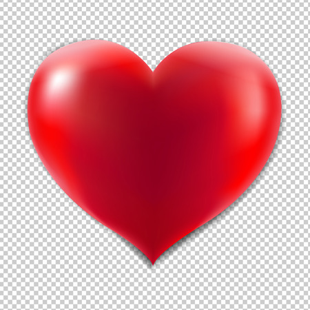 Red Heart With Isolated Background, Isolated on Transparent Background, With Gradient Mesh, Vector Illustration Illustration