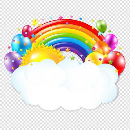 Scheda di compleanno isolati su sfondo trasparente, con gradiente maglie, illustrazione vettoriale Archivio Fotografico - 57247841