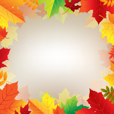 clothespeg: Autumn Banner With Leaves With Gradient Mesh, Vector Illustration Illustration