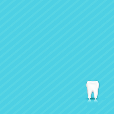 Dental Blue Background With Tooth With Gradient Mesh, Vector Illustration Illustration