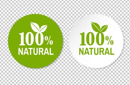 Natural Label, Vector Illustration