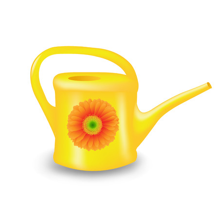 Watering Can With Gradient Mesh, Vector Illustration Illustration