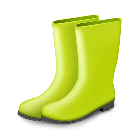 gumboots: Gumboots With Gradient Mesh, Vector Illustration