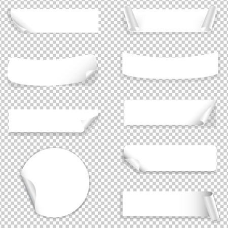 vertical dividers: Paper Label With Gradient Mesh, Vector Illustration