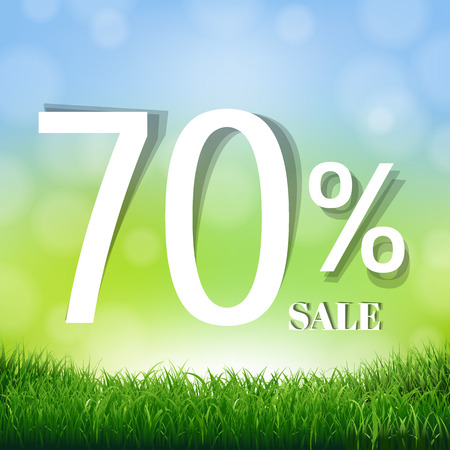 Sale Poster With Gradient Mesh, Vector Illustration