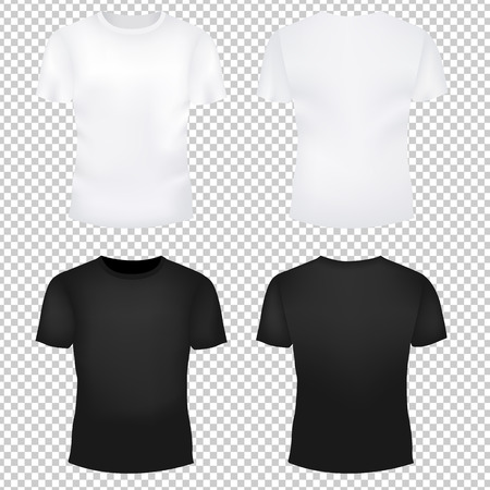 white man: T-Shirt Template Set Gradient Mesh, Vector Illustration