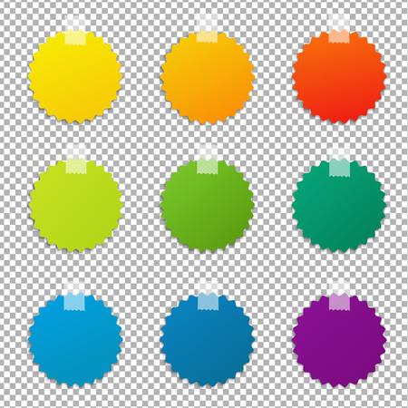 Ensemble d'étiquettes de couleurs, illustration vectorielle Banque d'images - 75675081