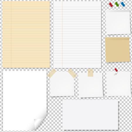 Paper Set Gradient Mesh, Vector Illustration Illustration