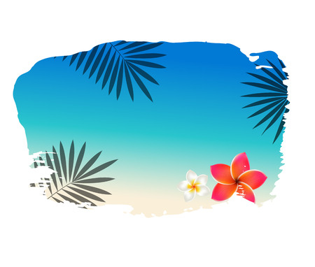 Summer Banner With Blot Gradient Mesh, Vector Illustration