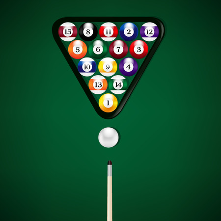 Billiard Balls Illustration Gradient Mesh, Vector Illustration