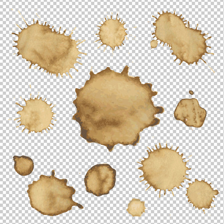 Coffee Stain Collection , Vector Illustration
