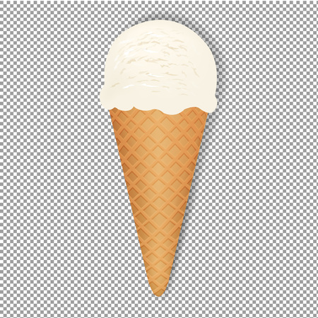 Ice Cream With Transparent  Background, Vector Illustration, With Gradient Mesh